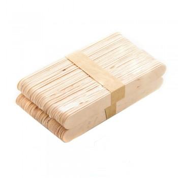Шпателі дерев'яні для депіляції одноразові, 100 шт