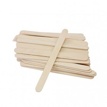 Шпатель дерев'яні для депіляції ОДНОРАЗОВІ ВУЗЬКІ, 100 ШТ.