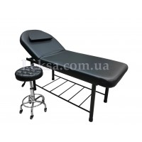 КУШЕТКА КОСМЕТОЛОГІЧНА LS-266A Black + стілець майстра 836