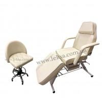 КУШЕТКА КОСМЕТОЛОГІЧНА  LS-202 CREAM + стілець майстра 750
