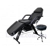 КУШЕТКА КОСМЕТОЛОГІЧНА  LS-202 BLACK + стілець майстра 831
