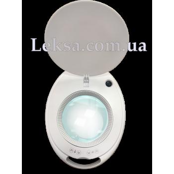 ЛАМПА-ЛУПА 6027K-H LED 3D З РЕГУЛЮВАННЯМ ЯСКРАВОСТІ ТЕПЛОГО І ХОЛОДНОГО СВІТЛА 1-12W